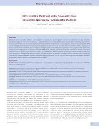 pdf diffeiating multifocal motor neuropathy from entrapment neuropathy a diagnostic challenge