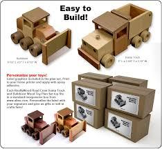 reallywood road crew dump truck bulldozer wood toy plan set