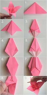Easy Paper Origami Flower 40 Diy Paper Crafts Ideas For Kids Origami Lily Paper