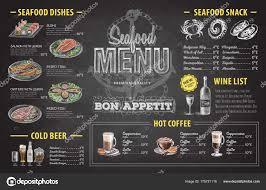 Menu Drawing Design Vintage Chalk Drawing Seafood Menu Design Restaurant Menu