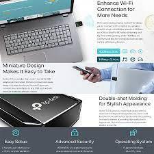 TP-Link 5GHz + 2.4GHz AC600 Mini Wireless Dual Band USB Wifi Adapter Archer  T2U For PC/Desktop/Laptop Dongle