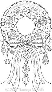 Color Christmas Wreath Coloring Page By Thaneeya Coloring Pages