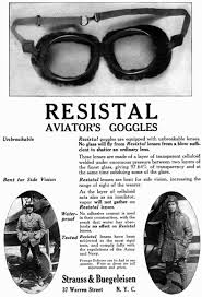 although later advertisements put the founding of the joseph buegeleisen company in 1933 city directories list buegeleisen as a goggle sman until 1935