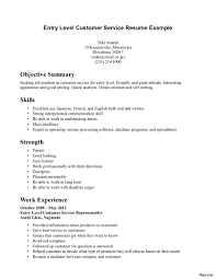 Resume Objective For Customer Service Template Resume Templates Customer Service Image Word 87