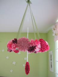 baby pink chandelier mobile best mobile images on diy crafts and paper garlands part 24