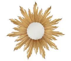 limited ion design 40 gold gilt sunburst art mirror hospitality residential interior designer s available