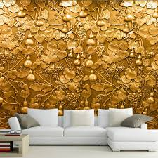 large 3d small gourd flower wall mural photo murals wallpaper for tv sofa living room wall art decor papel de parede para quarto in wallpapers from home  on large 3d flower wall art with large 3d small gourd flower wall mural photo murals wallpaper for tv