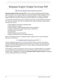 - Mybiograde Skilpoppe English Chapter Pdf Summary com