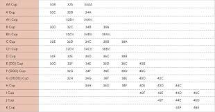 Bra Size Chart Zist Everywhere