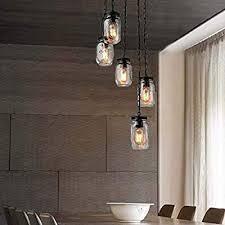 Rustic <b>Vintage Pendant Lamp</b> Glass <b>Dining</b> Table Decorative ...