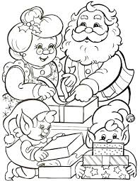 Santa Claus And Reindeer Coloring Pages Trustbanksurinamecom