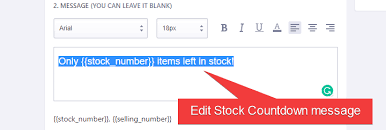 Stock Number How To Set Up Countdown Cart So It Will Boost Up Your Online