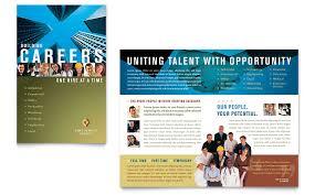 Employment Agency Jobs Fair Brochure Template Word