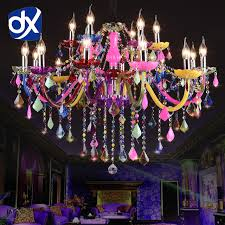 colorful chandelier lighting. Contemporary Chandelier DX Colorful Crystal Chandelier Lighting Lustre Romantic  Modern Kitchen Chandelier Light On