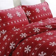 Christmas Bedding Sets: Amazon.com & Vaulia Lightweight Microfiber Duvet Cover Set, Snowflake Pattern Design for  Christmas Season, Red Color - Queen Size Adamdwight.com