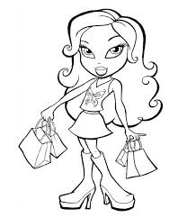 Small Picture Bratz Coloring Pages And Sheets Can Be Found In The Bratz Color
