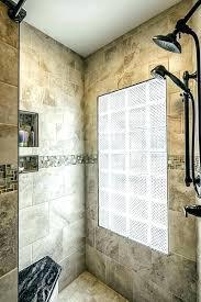 marvellous doorless shower in small bathroom shower design glass block shower designs bathroom walk in shower