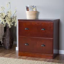 Cherry File Cabinet Valona Custom Two Drawer Lateral Filing Cabinet Cherry At Hayneedle
