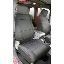 smittybilt front and rear seat cover kit black neoprene 2 door jeep wrangler jk 2007