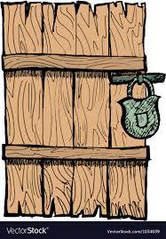 old wooden door royalty free vector image