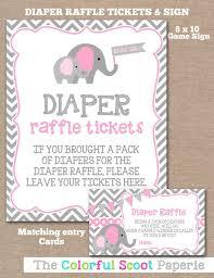 raffle sign instant download elephant diaper raffle ticket sign diaper raffle