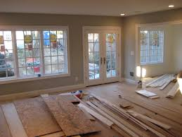 Light Gray Paint Living Room Grey Wall Theme And Glass Windows Also Glass Doors With White