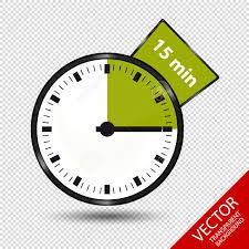 Timer 15 Timer 15 Minutes Vector Illustration Isolated On Transparent