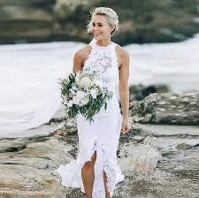 <b>LORIE</b> Lace Beach <b>Wedding Dresses</b> Halter <b>Mermaid</b> Sexy Custom ...