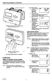 honeywell t8000c programmable thermostat installation instructions Honeywell Thermostat Installation Diagram honeywell t8000c programmable thermostat installation instructions page 4 honeywell thermostat wiring diagram