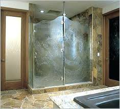 frosted shower doors