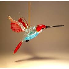 hummingbird ornament glass hummingbird glass hummingbird figurine hanging
