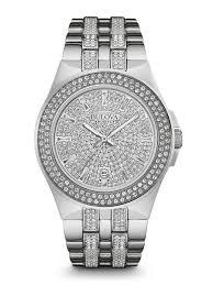 men s crystal watches bulova men s crystal watch