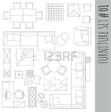 floor plan furniture symbols. Floor Plans Furniture Standard Symbols Used In Architecture Icons Set Graphic Design Planning . Plan G