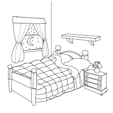 bedroom clipart black and white. bedroom clipart colouring pencil and in color. bed black white o