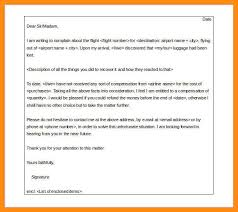 9 10 Sample Complaint Letter To Airline Lasweetvida Com