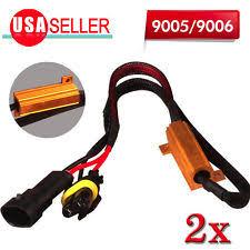 led resistor v 2x 9005 9006 led error canbus fog load resistors wiring harness decoder 50w