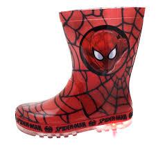 Spiderman Light Up Shoes Size 13 Details About Marvel Spiderman Light Up Wellington Boots Super Hero Rain Wellies Boys Size