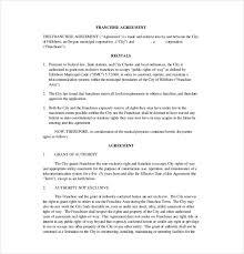 Franchise Contract Sample Under Fontanacountryinn Com