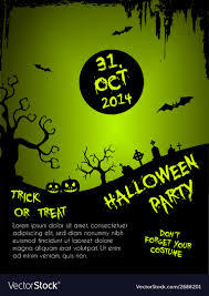 Green Party Flyer Halloween Party Flyer Template Green