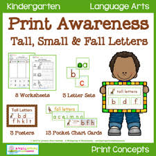 Print Awareness Tall Small Fall Letters
