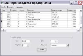 АИС Планирование производства продукции на предприятии  Курсовая работа delphi