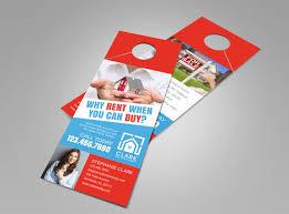 real estate door hanger templates. Buy VS Rent Door Hanger Template Real Estate Templates