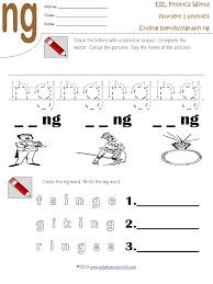 Consonant blends (sometimes called clusters) are groups of consonants that are sequential and are not separated by a vowel. Ending Blends Digraph Ng Worksheet