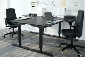 black office table. Black Office Desk L Shaped For Convenience Throughout . Table