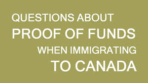 Proof Of Funds For Immigration Visa To Canada Answering Questions