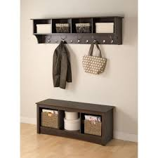 prepac 60 in wall mounted coat rack in