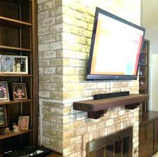 mounting tv above brick fireplace mounting lcd tv brick fireplace