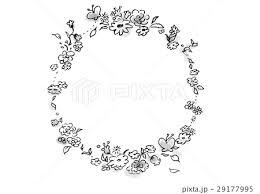 花 フレームのイラスト素材 29177995 Pixta