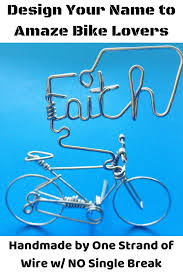 know bike enthusiasts check out this unique bicycle wire art decor best customizable inspirational cyclist gifts for dad mama friends boyfriend