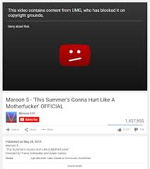 Down Takes Own With Music 's 5 Universal Copyright Maroon Video A Tnw7qxw4C